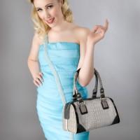 Young woman with handbag