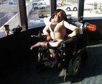 Tamara Morgan wheelchair airport