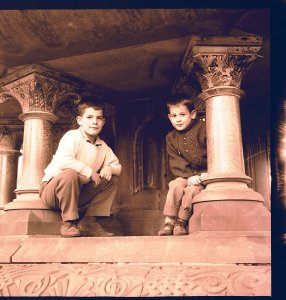 Tommy.Rory. Under Bethesda Fountain.Central Park 1962